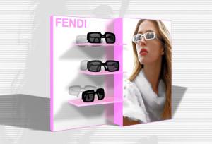 Espositore occhiali Fendi / Display Fendi Eyewear