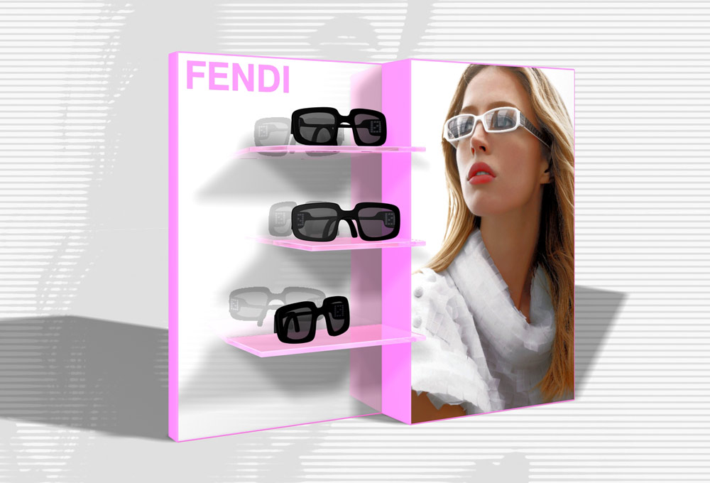 Espositore occhiali Fendi / Display Fendi Eyewear