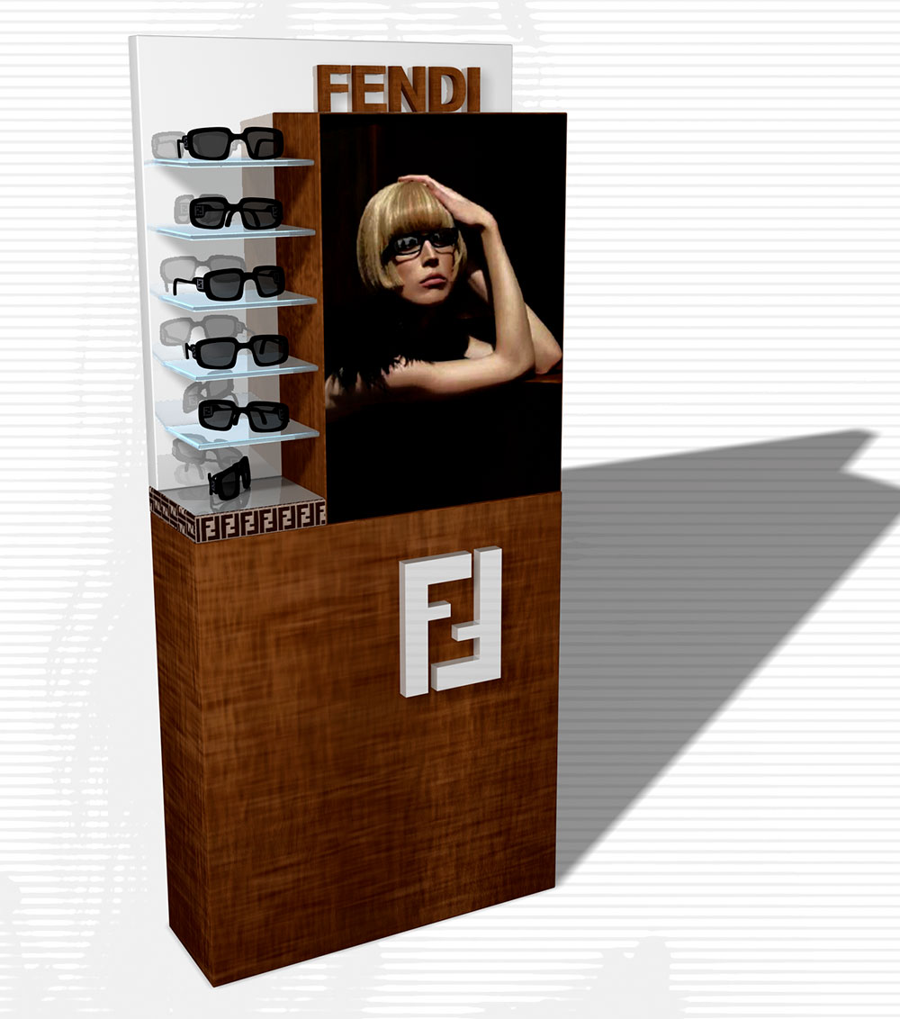 Fendi Eyewear big display 2008