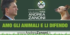 Andrea Zanoni, Italia dei Valori, elezioni regionali Veneto 2010